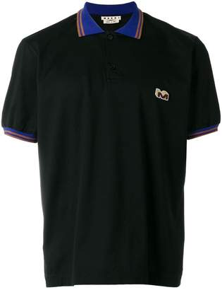 Marni contrast collar polo shirt