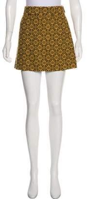 Miu Miu Patterned Mini Skirt