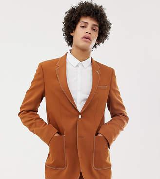 Noak skinny blazer in camel