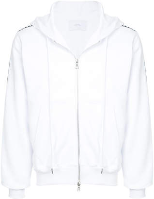 Stampd checkered side panel zipped hoodie