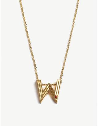 Maje W initial necklace
