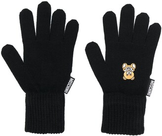 Moschino knitted teddy gloves