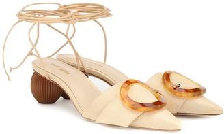Cult Gaia Liya embellished raffia sandals