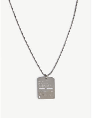 Alyx Silver engraved military dogtag necklace