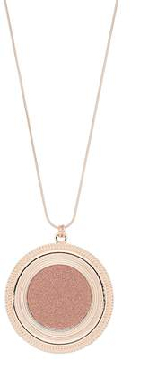 Glitter Disc Pendant Necklace