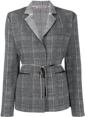 D-Exterior D.Exterior belted knit blazer