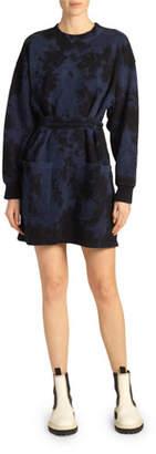 Proenza Schouler PSWL Tie-Dye Belted Sweatshirt Dress