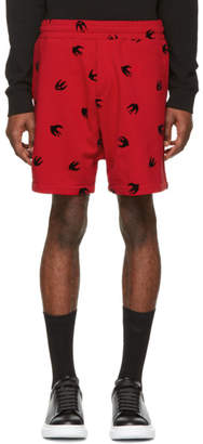 McQ Red Mini Swallow Shorts
