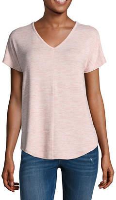 A.N.A Short Sleeve V Neck T-Shirt-Womens