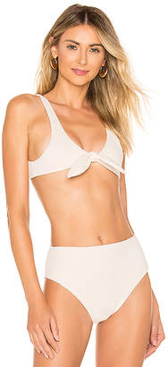 SKYE & staghorn Lila Tie Front Crop Bikini Top