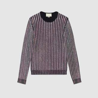 Gucci Crystal embroidered ribbed sweater