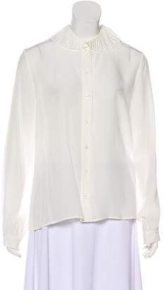 Vanessa Seward Silk Button-Up Blouse