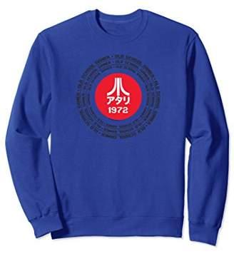 Atari Old School Gamer Kanji Logo Repeat Type Sweatshirt