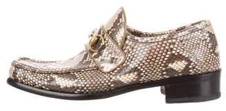 Gucci Snakeskin Horsebit Loafers