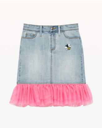 Juicy Couture Tulle & Denim Skirt for Girls