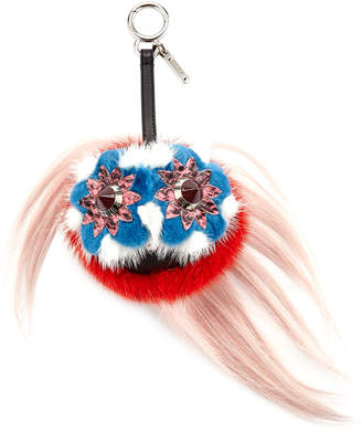 Fendi Blossy Bag Bugs Charm for Handbag Strawberry Red\/Blue