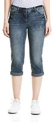 Cecil Women's 371305 Scarlett Blue Straight Jeans