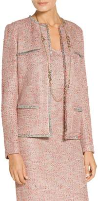 St. John Metallic Multi Eyelash Knit Jacket