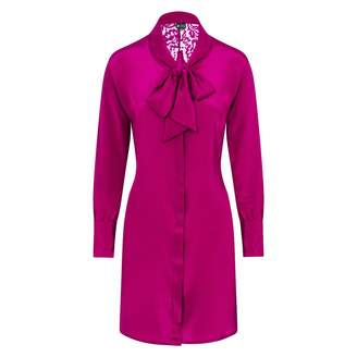 Sophie Cameron Davies - Berry Pink Silk Mini Bow Dress