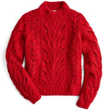 J.Crew Point Sur Pointelle Sweater