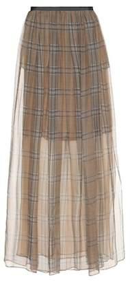 Brunello Cucinelli Checked silk skirt