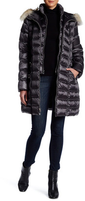 DL2 Alicia Genuine Coyote Fur Trim Hooded Down Jacket $450 thestylecure.com