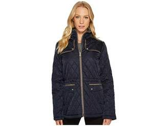 Vince Camuto Quilted Jacket with Faux Suede Contrast Detail N8841