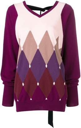 Ballantyne diamond knit sweater