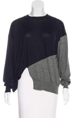 Celine Colorblock Wool & Silk-Blend Sweater