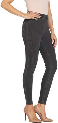 Halston H By H by Regular Knit Denim Ankle Pants with Forward Seam