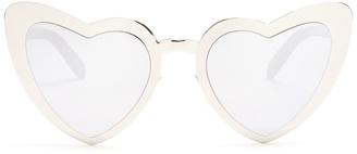 Loulou heart-shaped metal sunglasses