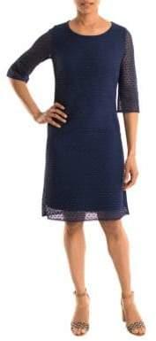 Olsen Crocheted Overlay Dress