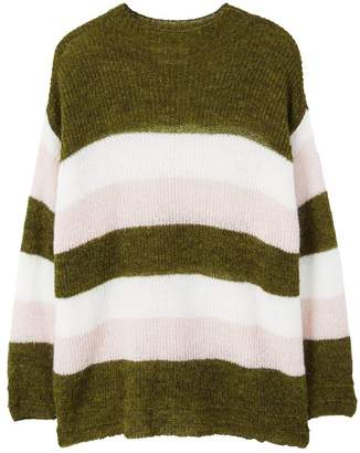 MANGO Striped mohair-blend sweater