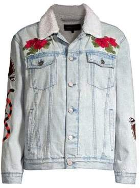 KENDALL + KYLIE Embroidered Denim Jacket
