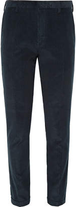 Paul Smith Navy Slim-Fit Cotton and Cashmere-Blend Corduroy Suit Trousers - Men - Blue
