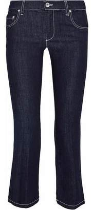 RED Valentino Cropped Mid-Rise Bootcut Jeans