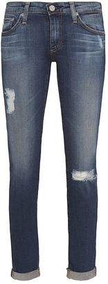 AG Stilt 4 Year Distressed Roll Up Jean $225 thestylecure.com