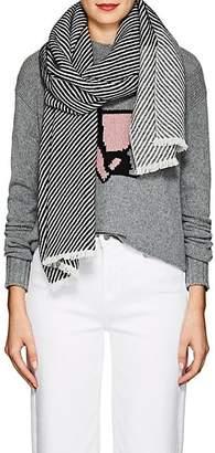 Barneys New York Women's Striped Cashmere Scarf - Black