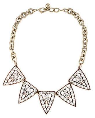 Lulu Frost Crystal Triangle Chain Necklace $125 thestylecure.com
