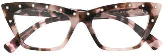 Valentino Eyewear studded cat-eye glasses