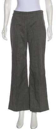 Theyskens' Theory Wool Mid-Rise Wide-Leg Pants