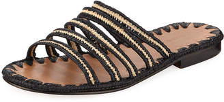 Carrie Forbes Asmaa Woven Strappy Slide Sandal