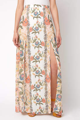 Show Me Your Mumu Nica Ruffle Mick Double Slit Skirt