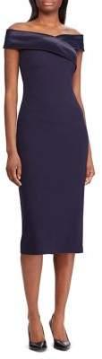 Lauren Ralph Lauren Crepe Off-The-Shoulder Sheath Dress
