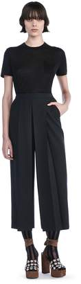 Alexander Wang High Waisted Pant With Fold Front Detail