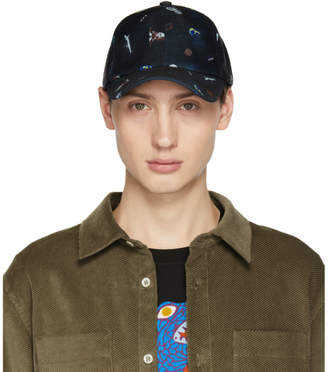Paul Smith Navy Printed Baseball Cap