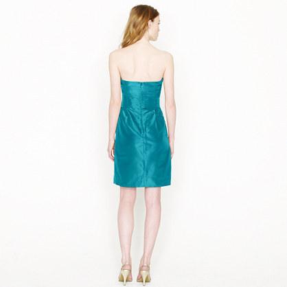 Bow monde dress in silk taffeta 4