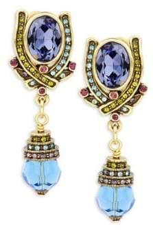 Heidi Daus Crystal-Embellished Drop Earrings