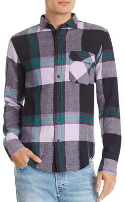 Scotch & Soda Plaid Double-Faced Regular Fit Flannel Shirt