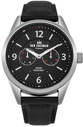 Ben Sherman Men's 'Big Carnaby Utility' Quartz Silver-Tone and Nylon Casual Watch